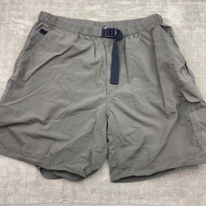 North Face TNF Green Nylon Shorts Mens XL Belted